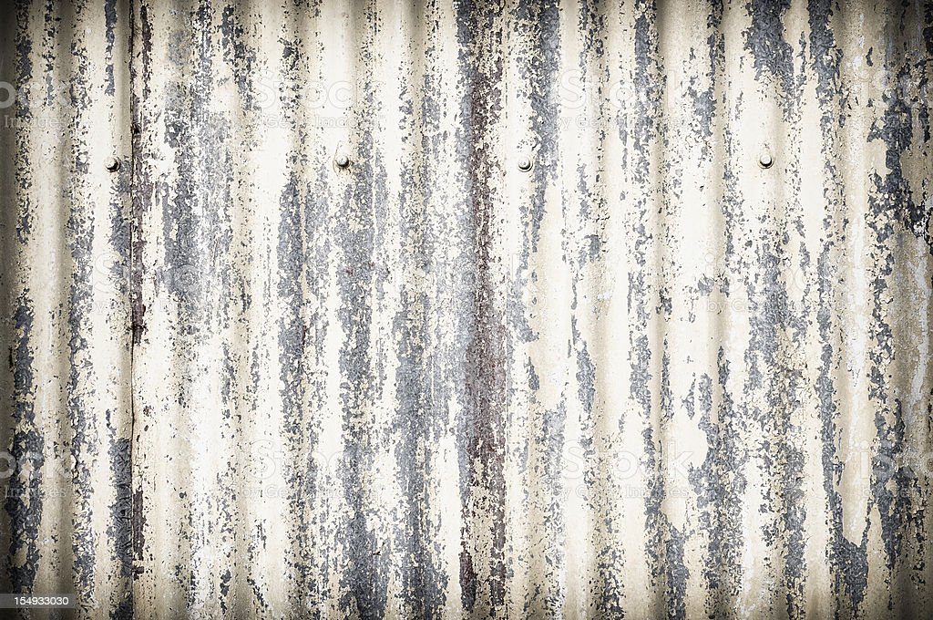 Damaged Corrugated Metal Surface Background stock photo