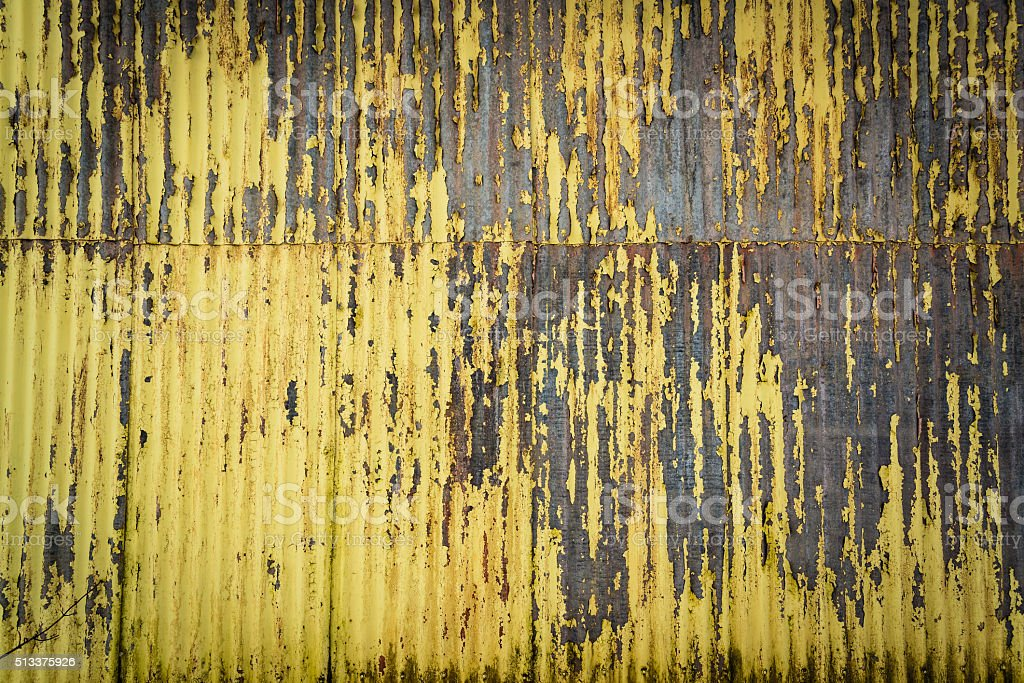 Damaged Corrugated Surface Background stock photo