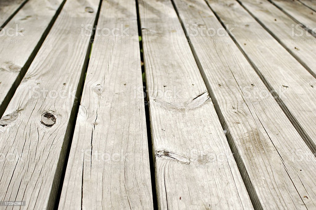Damaged Deck royalty-free stock photo