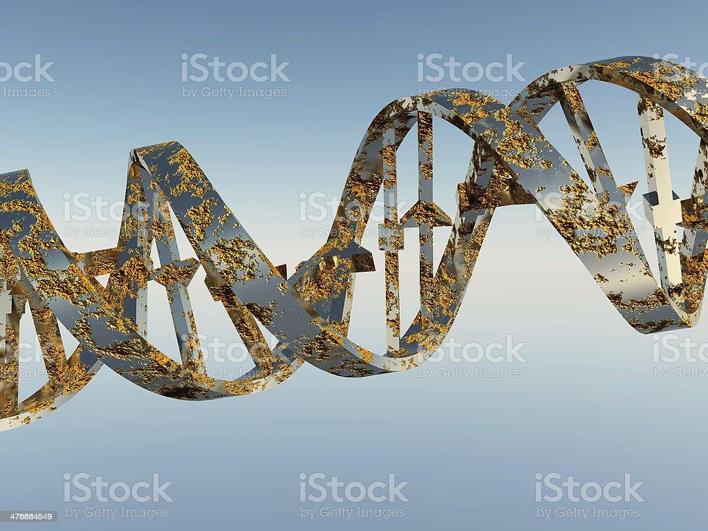 Damaged DNA Strands stock photo