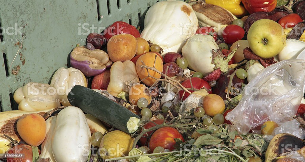 damaged fruits and vegetables stock photo