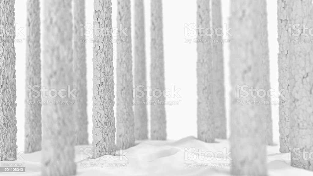 Damaged Hair Follicles Microscopic on white stock photo