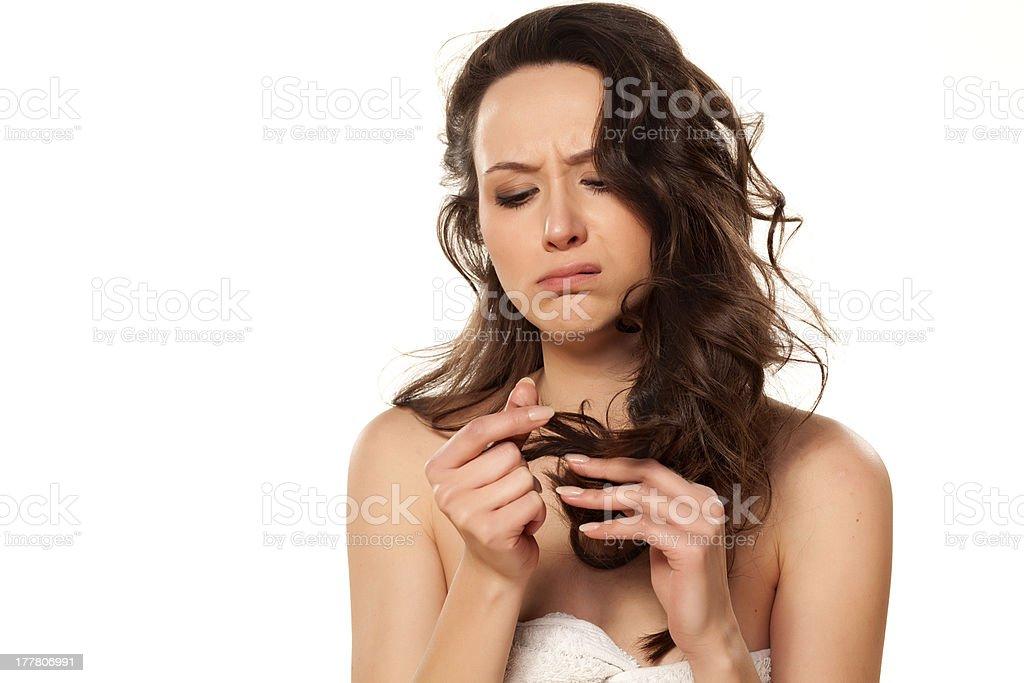 damaged hair stock photo