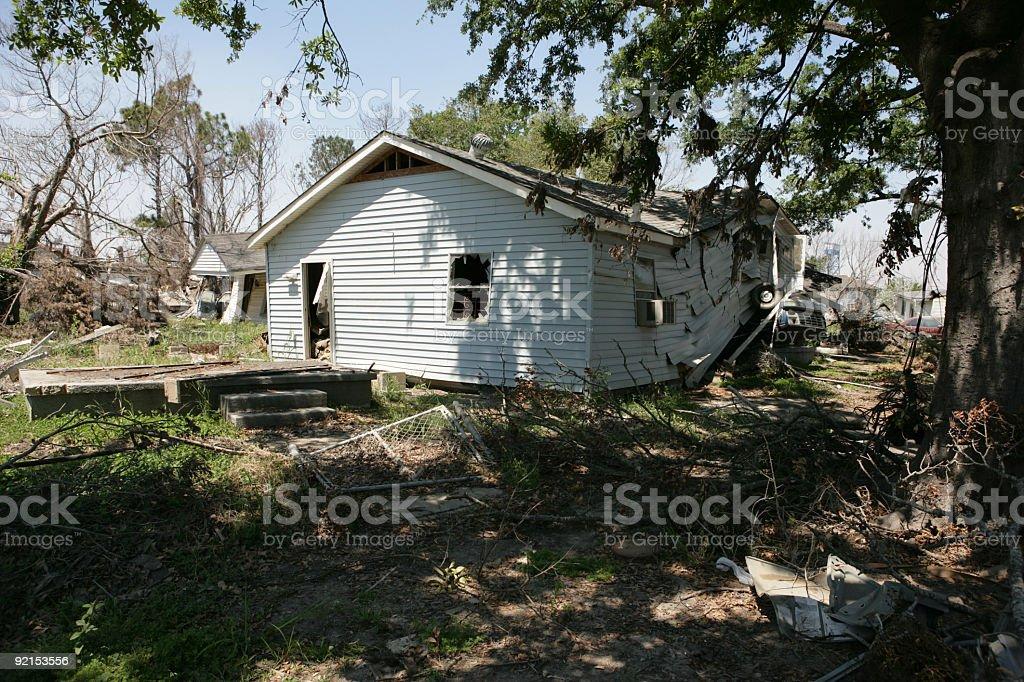 Damaged Home Ninth Ward stock photo