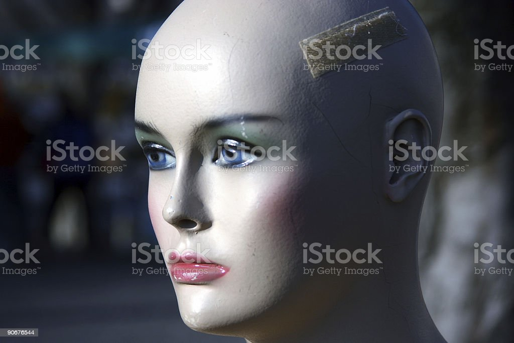 Damaged mannequin puppet royalty-free stock photo
