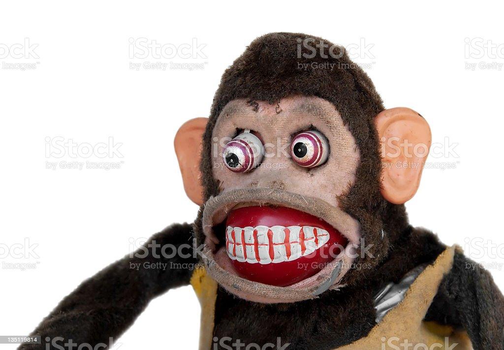 Damaged Mechanical Chimp royalty-free stock photo