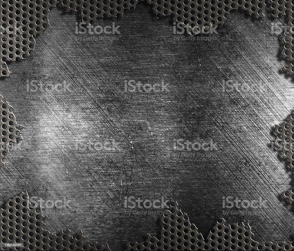 damaged metal grate background royalty-free stock photo
