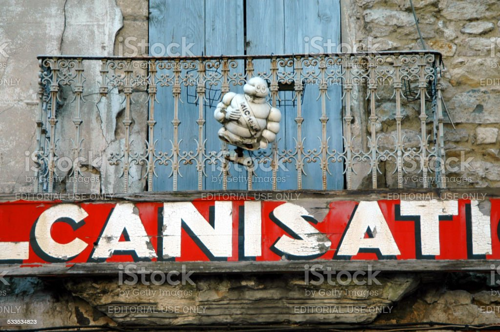 Damaged Michelin Man stock photo
