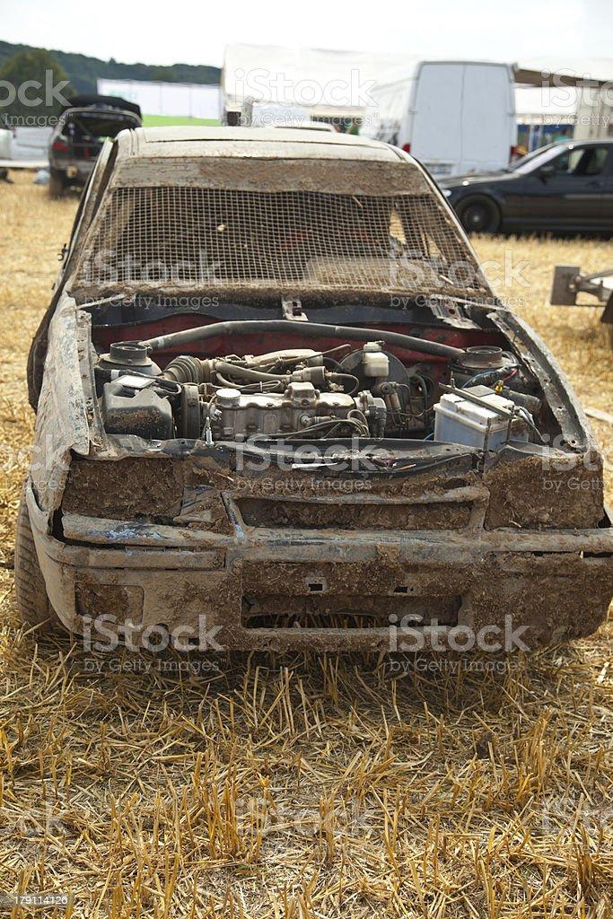 Damaged off road car royalty-free stock photo
