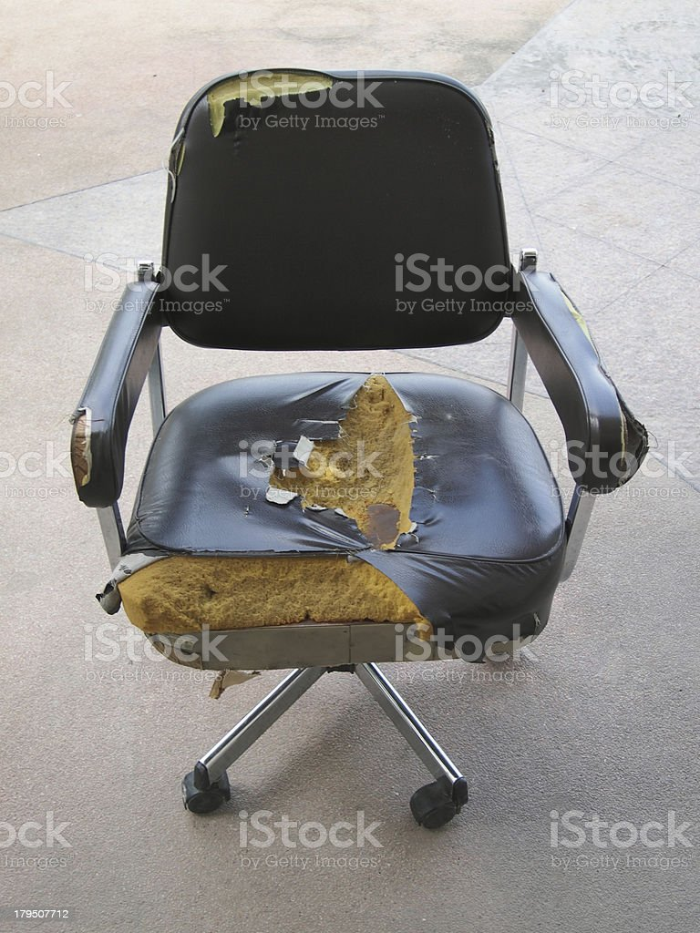 Damaged office chair stock photo