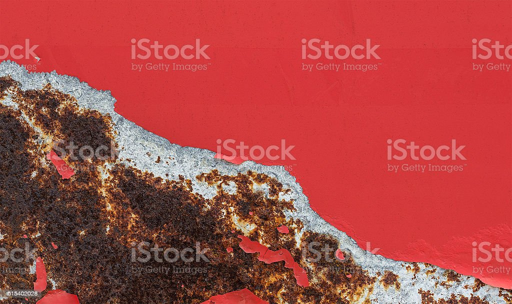 Damaged old paint layer stock photo