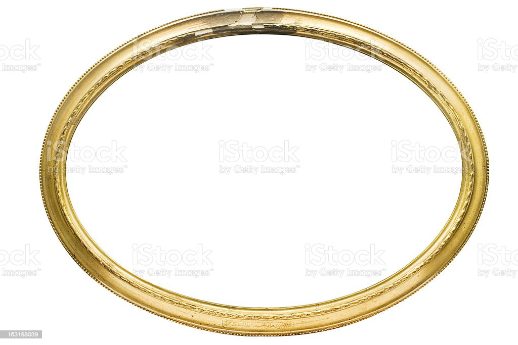 Damaged Oval Picture Frame w/ Path royalty-free stock photo