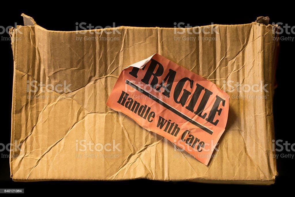 Damaged parcel stock photo