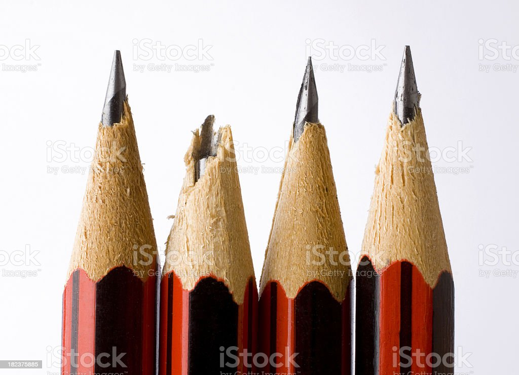 Damaged Pencil royalty-free stock photo