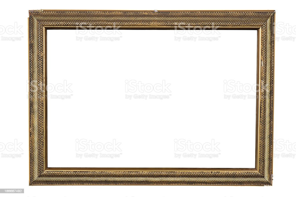 damaged picture frame royalty-free stock photo