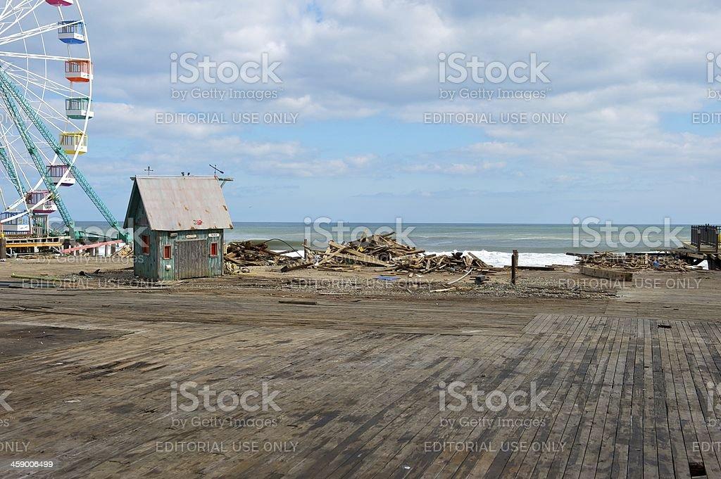 damaged pier royalty-free stock photo