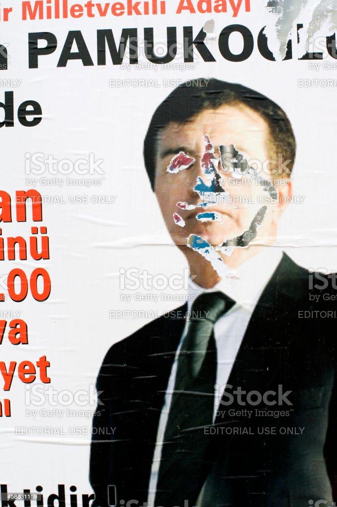 Damaged Poster royalty-free stock photo