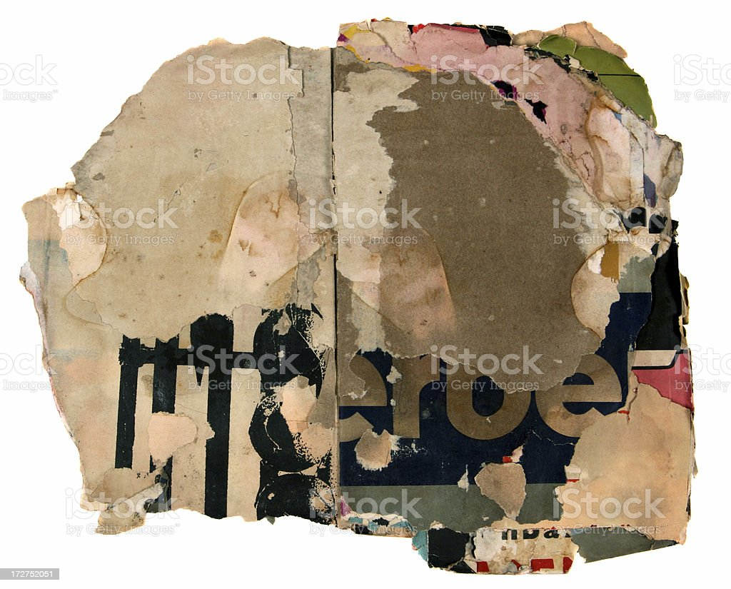 Damaged posters royalty-free stock photo