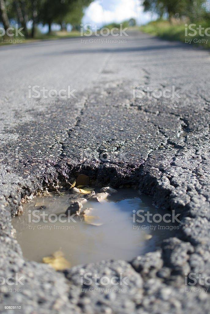 Damaged road royalty-free stock photo