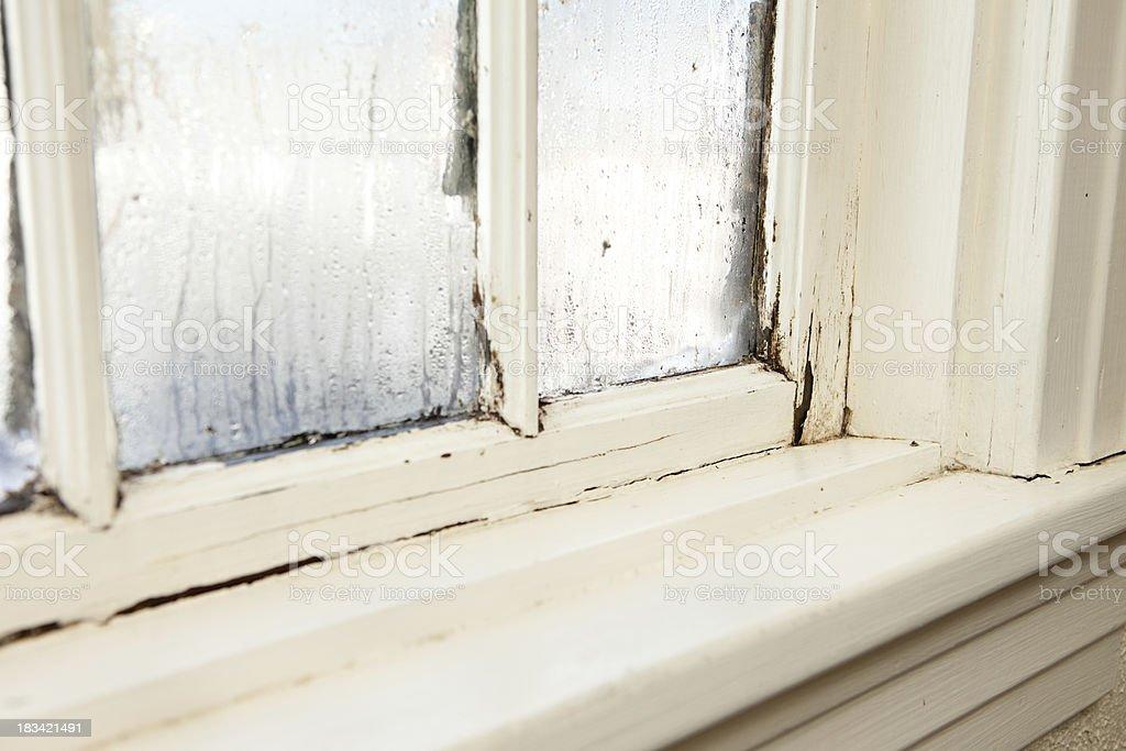 'Damaged, Rotting Window Inside Older Home' stock photo