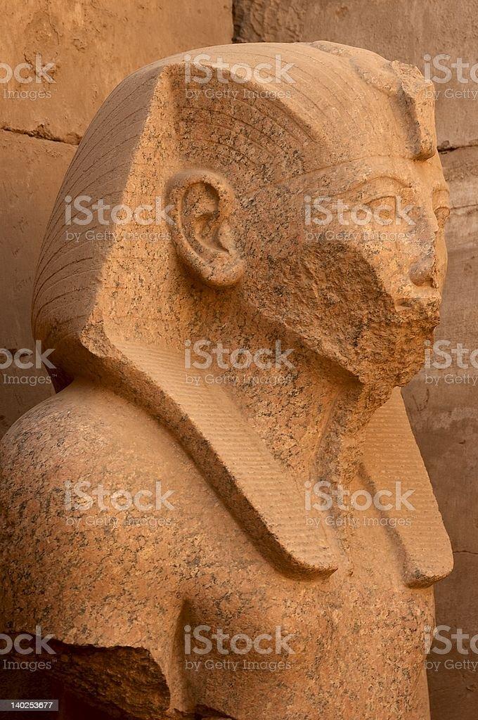 Damaged Statue of a Pharaoh stock photo