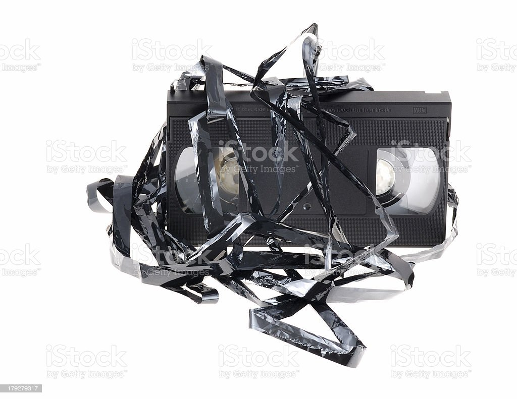 damaged video tape royalty-free stock photo