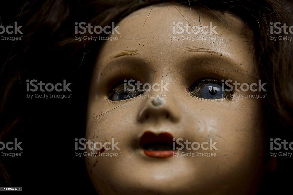 Damaged Vintage Doll (2) royalty-free stock photo
