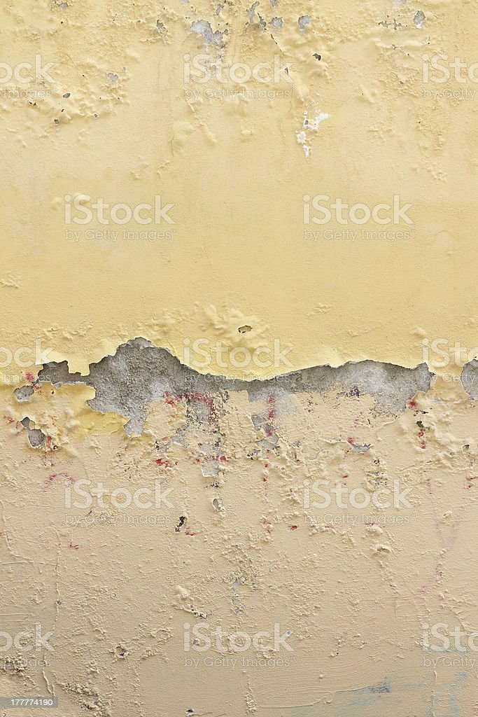 Damaged wall by moisture. royalty-free stock photo