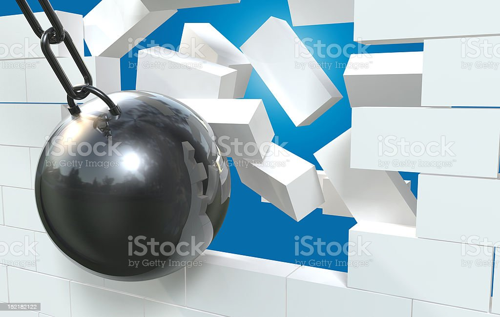 Damaged Wall stock photo