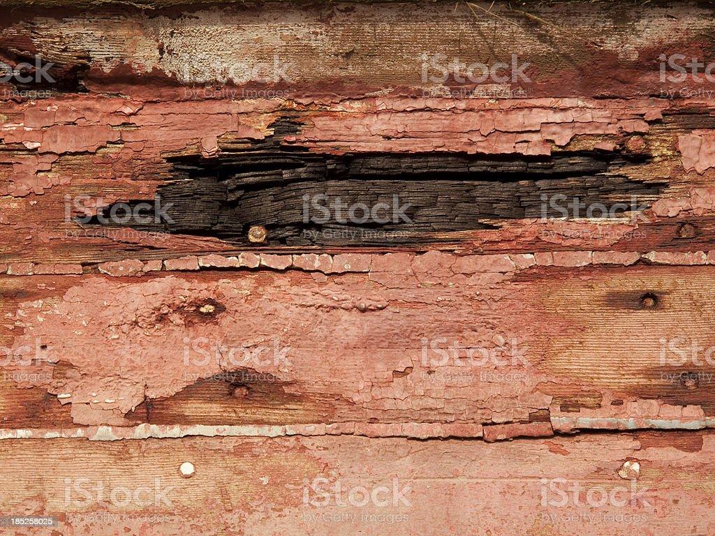 Damaged Wood royalty-free stock photo