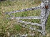 Damaged Wooden Farm Gate, Scotland