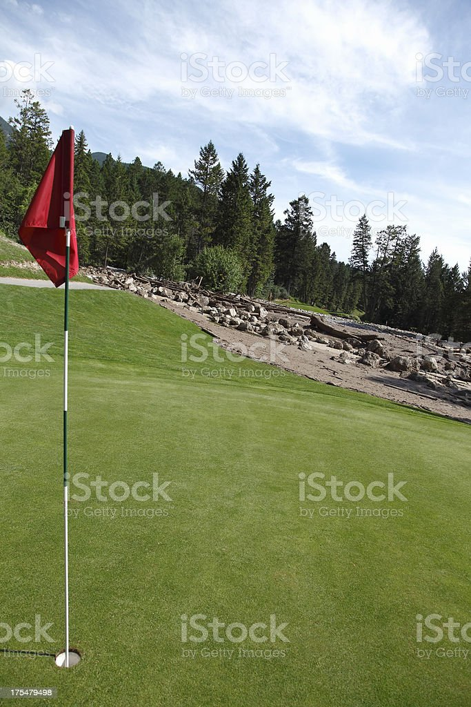 Damaging Mud Slide Cuts Through The Golf Course royalty-free stock photo