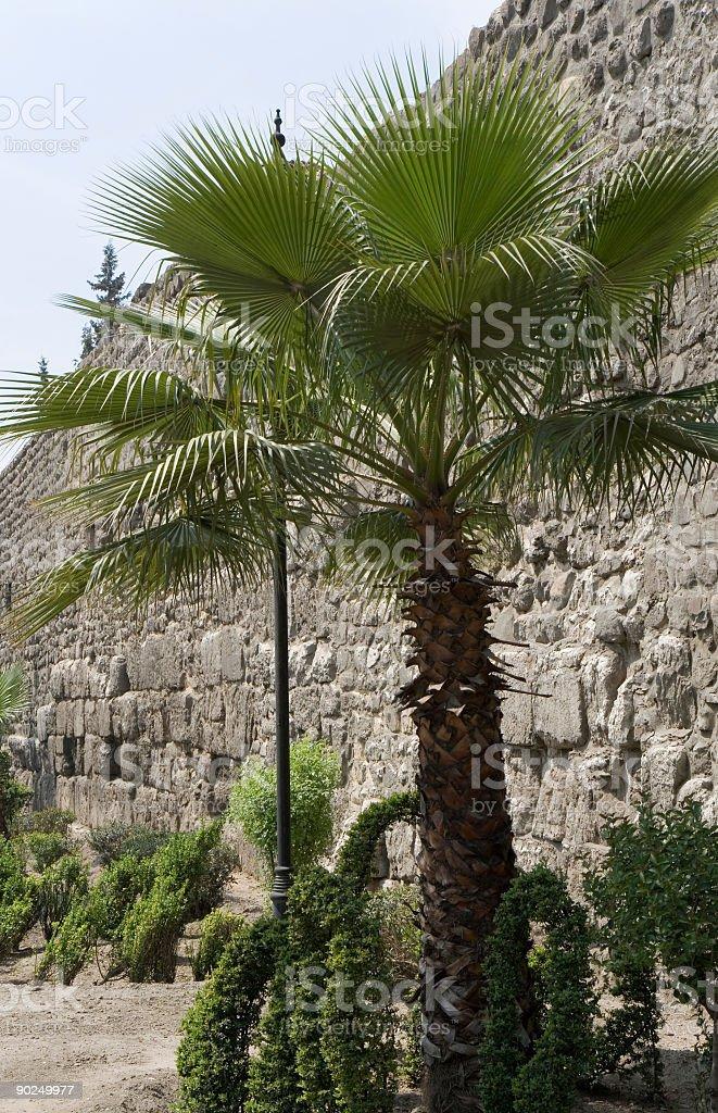 Damascus - City Wall stock photo