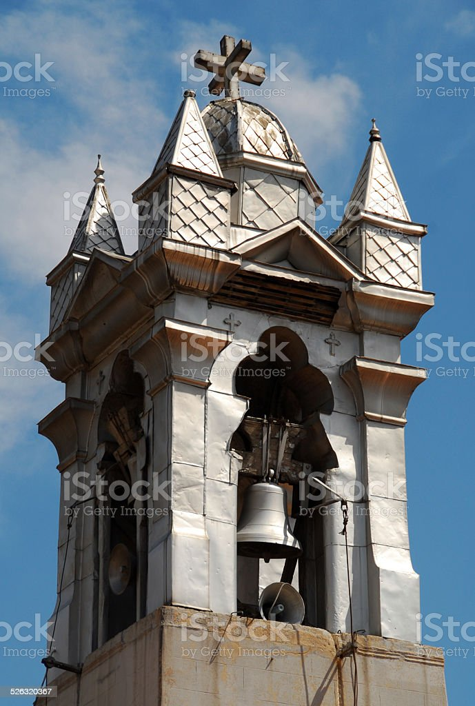 Damascus, Syria: Lady of Dormition Melkite Greek Catholic Cathedral stock photo
