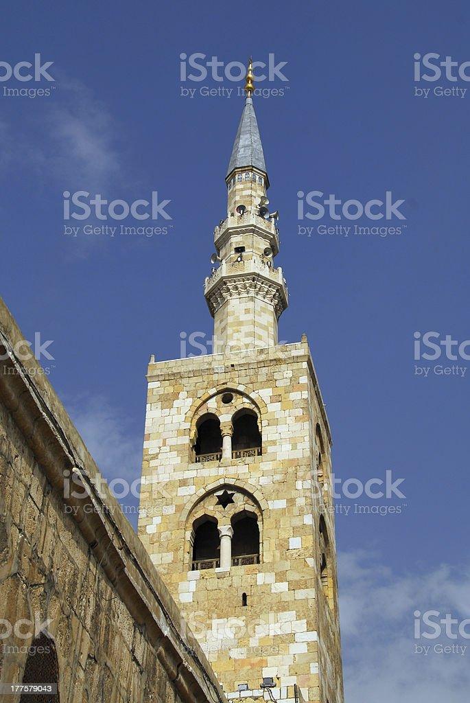 Damascus, Syria: Omayyad Mosque - Jesus Minaret stock photo