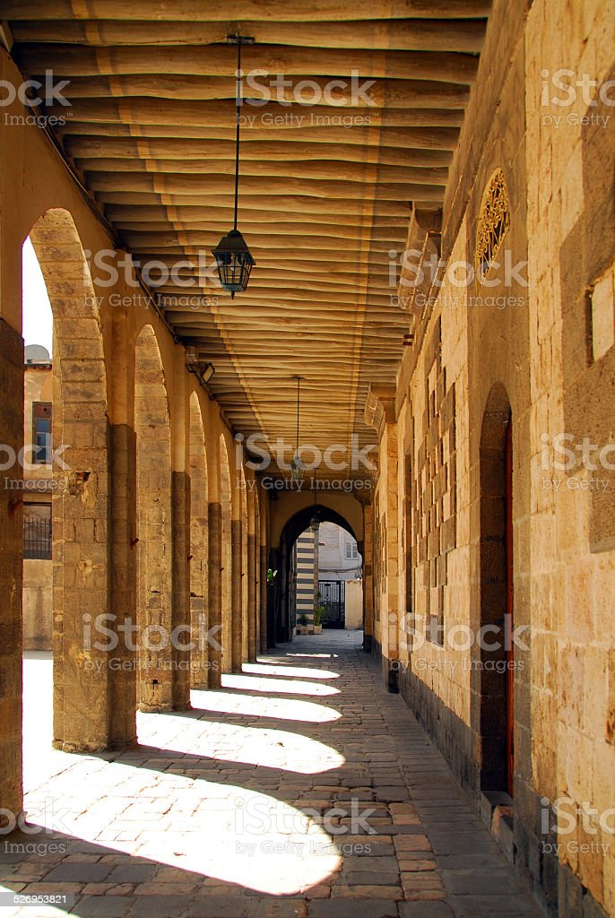 Damascus, Syria: Our Lady of Dormition Greek Catholic Cathedral stock photo