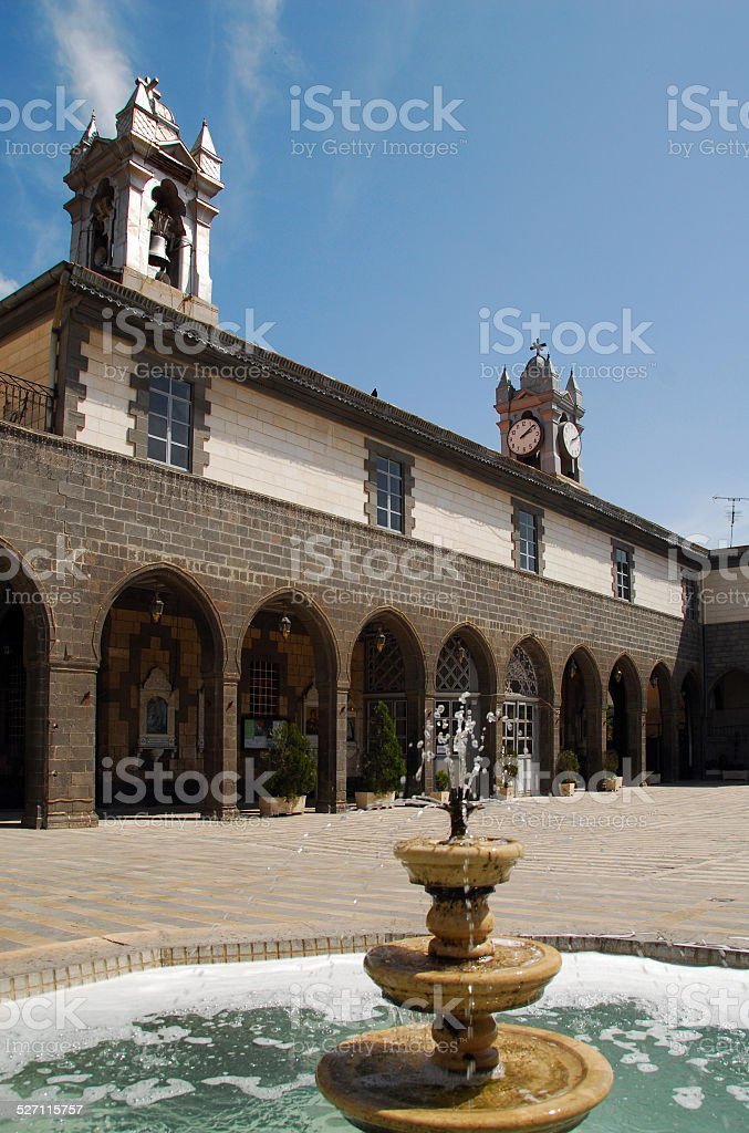 Damascus, Syria: Our Lady of Dormition Melkite Greek Catholic Cathedral stock photo