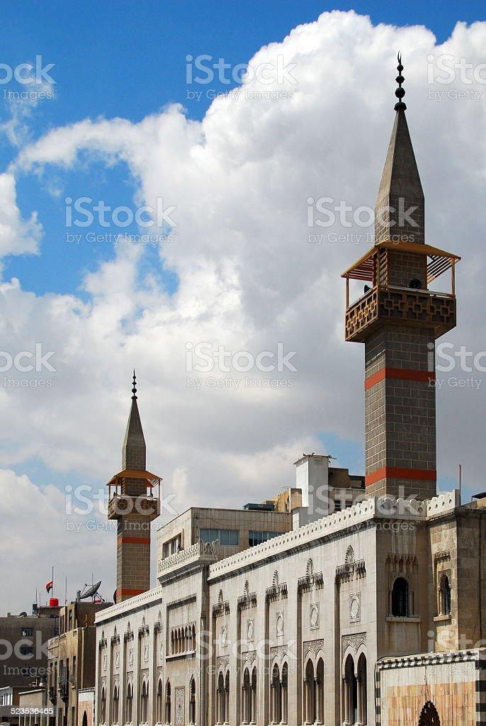 Damascus, Syria:Tankiz mosque stock photo