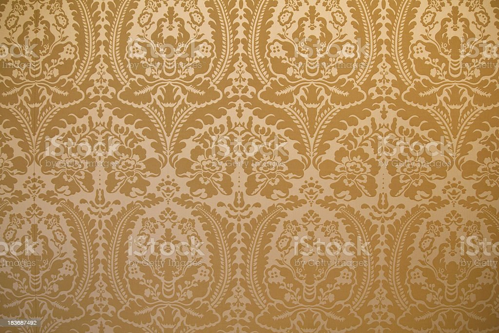 Damask fabric wall cover background stock photo