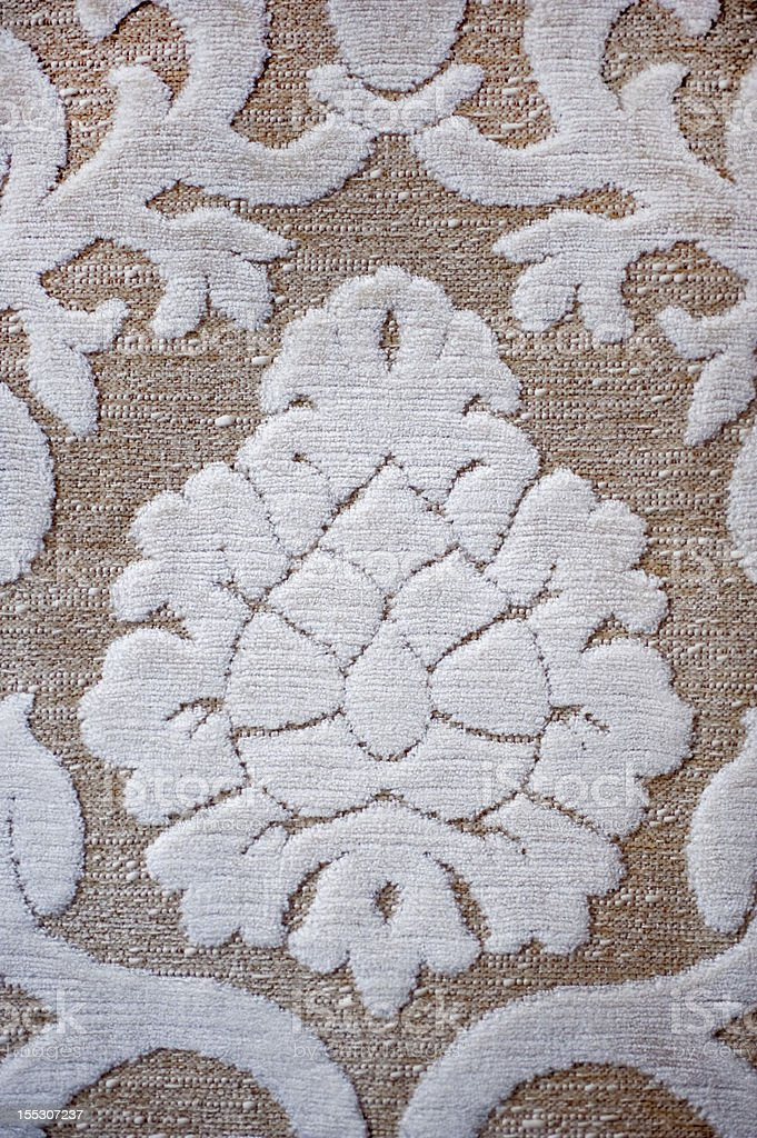 Damask fabric with neutral colours royalty-free stock photo