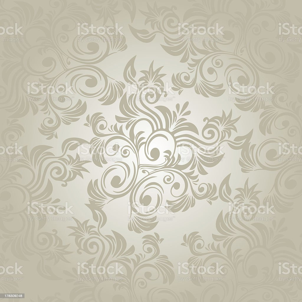 damask floral pattern wallpaper stock photo