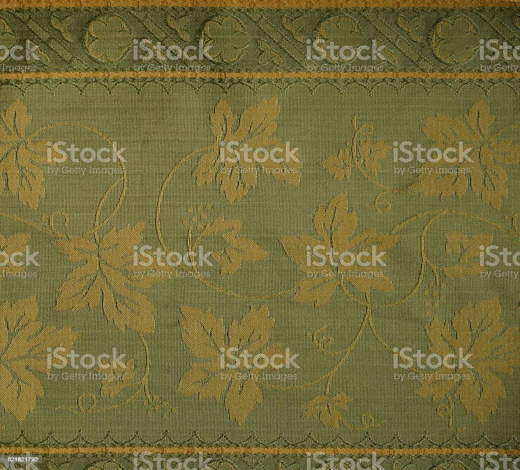 Damask silk fabric stock photo