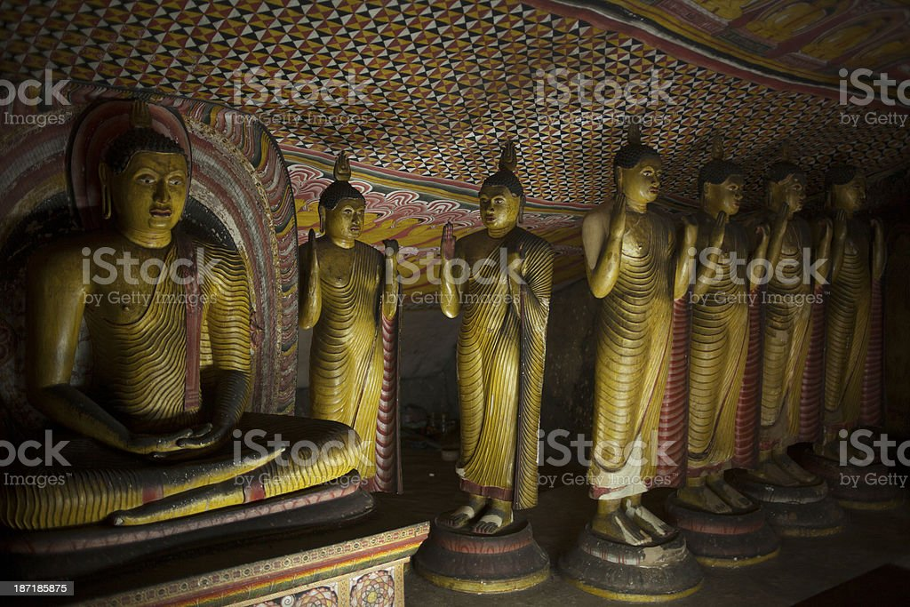 Dambula Cave Temple royalty-free stock photo