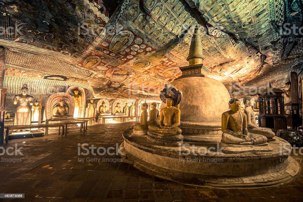 Dambulla ancient cave temple in Sri Lanka stock photo