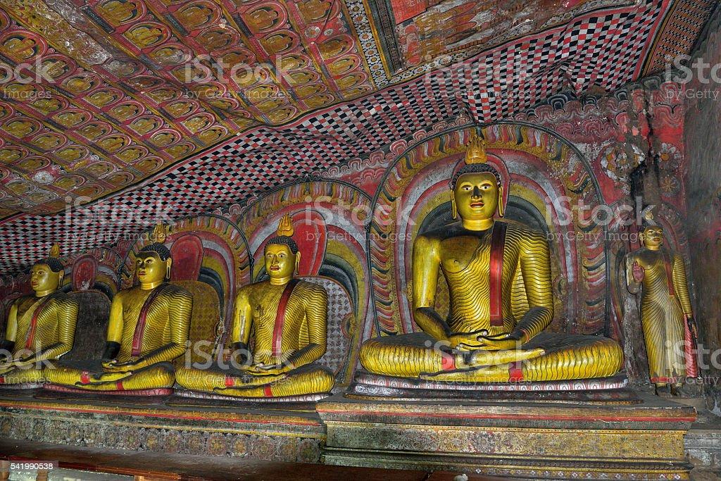 Dambulla cave temple complex (golden temple) in Sri Lanka (Asia) stock photo