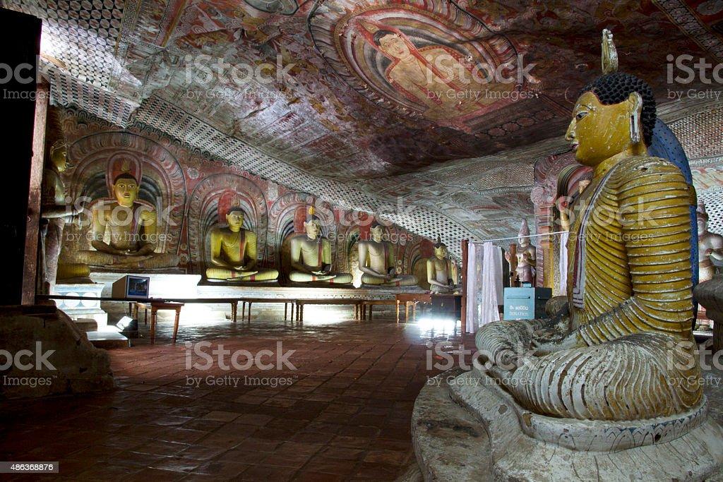 Dambulla Cave Temple stock photo