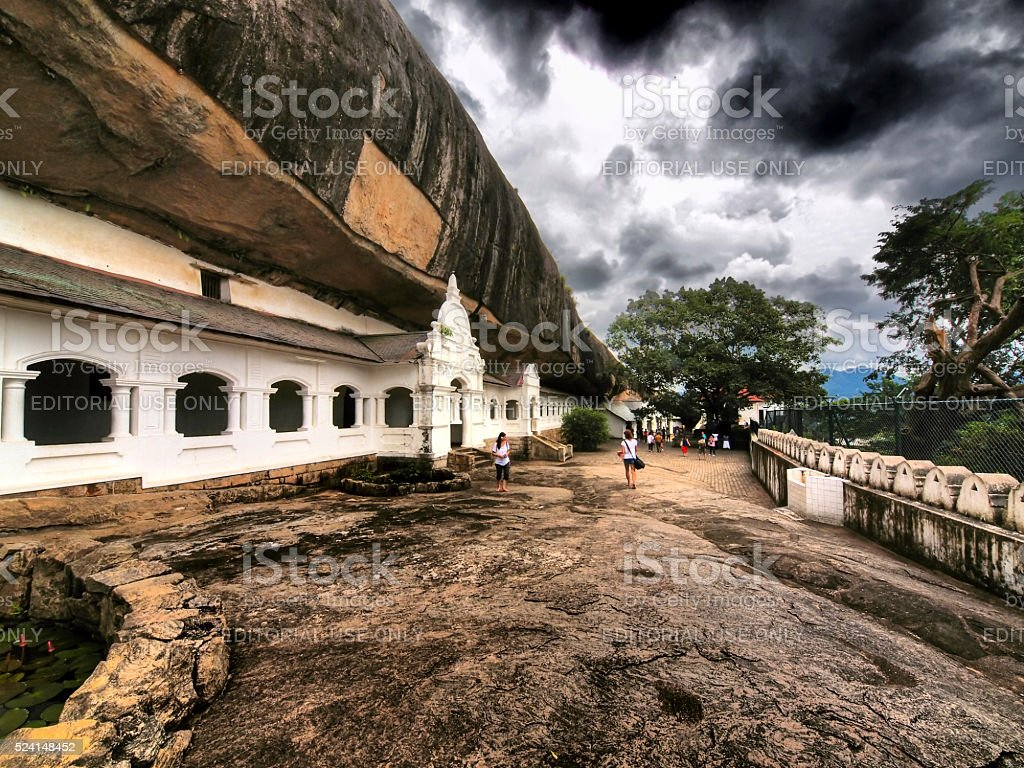 Dambulla royal cave temple in Sri Lanka stock photo