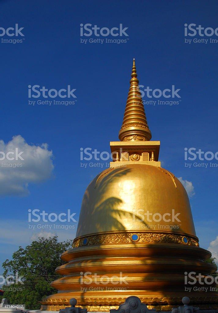 Dambulla, Sri Lanka: golden stupa royalty-free stock photo
