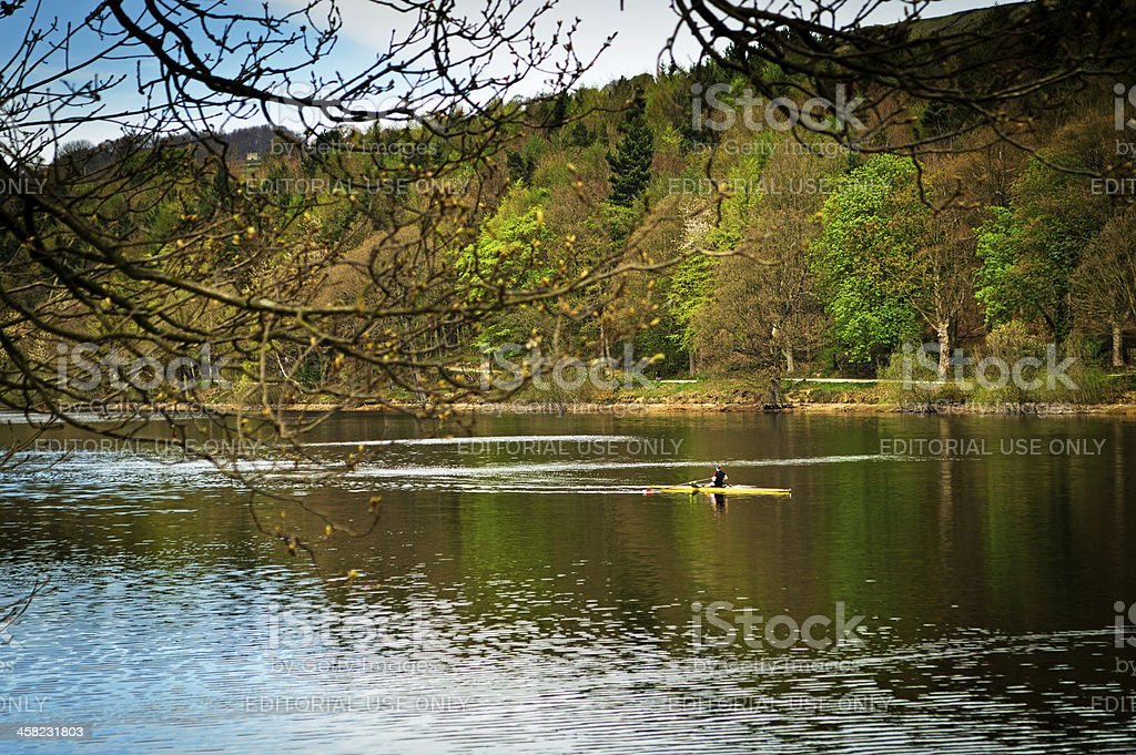 Damflask reservoir stock photo