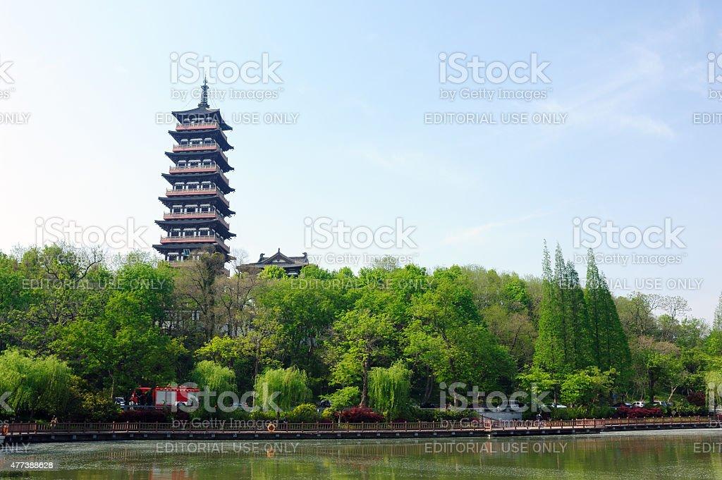 Daming Temple in Yangzhou China stock photo